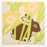 Pin It Amenity Nursery Wall Print Meadow Hiding Bunny Wall Print
