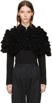 Comme des Garcons Black Ruffled Short Cape