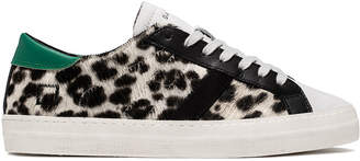 D.A.T.E Hill Low Leopard Trainer Sneakers - 36