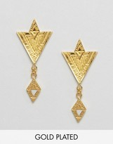 Gorjana Gold Plated Shae Drop Earrings