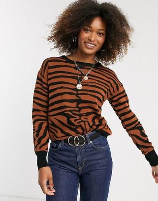 Liquorish tiger print sweater