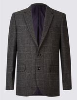 Marks and Spencer Wool Blend Checked Jacket