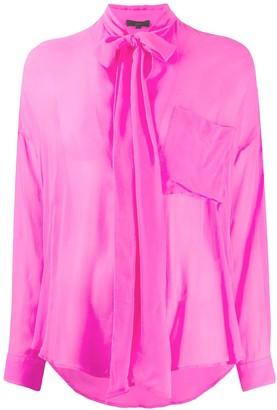 Jejia Semi-Sheer Pussybow Shirt