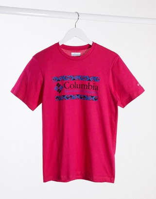 Columbia Rapid Ridge Graphic t-shirt in pink