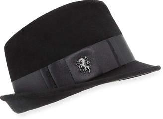 Philip Treacy Velour Trilby Hat