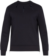 Neil Barrett Lightning bolt-appliqué jersey sweatshirt