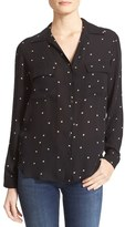 L'Agence Women's Margaret Star Print Silk Blouse