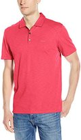 Calvin Klein Men's Short Sleeve Slub Interlock Solid Polo