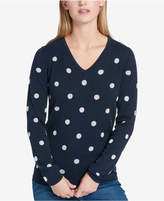 Tommy Hilfiger Metallic Polka-Dot Sweater, Created for Macy's