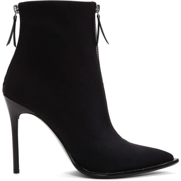 Alexander Wang Black Diamonte Eri Boots