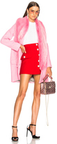Shrimps Rory Coat With Faux Fur Trim in Pink.