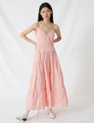 Maje Taffeta maxi dress with thin straps
