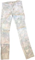 IRO Green Cotton Jeans for Women