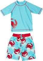 Boys' Rashguard Set - Crabs (UPF 50+)