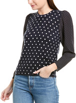 Rebecca Taylor Dot Wool & Silk Pullover