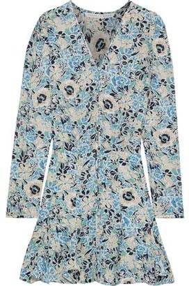 Veronica Beard Riggins Ruffled Floral-print Silk-chiffon Mini Dress