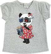 Little Marc Jacobs Panda Print Blend Cotton Jersey T-Shirt