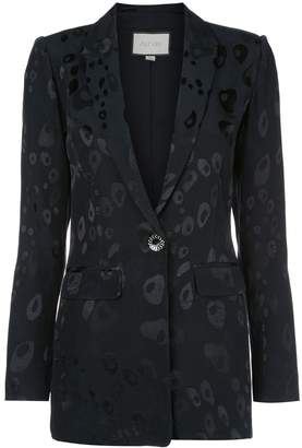 Alexis fitted printed blazer