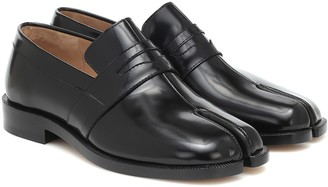 Maison Margiela Tabi patent-leather loafers