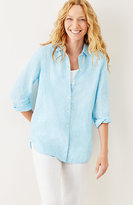 J. Jill Striped Linen Big Shirt