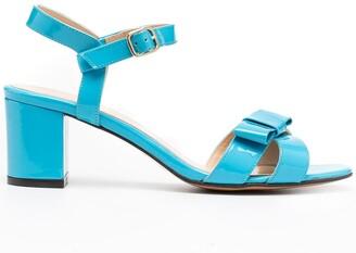 Tila March Bow Cross-Strap Sandals