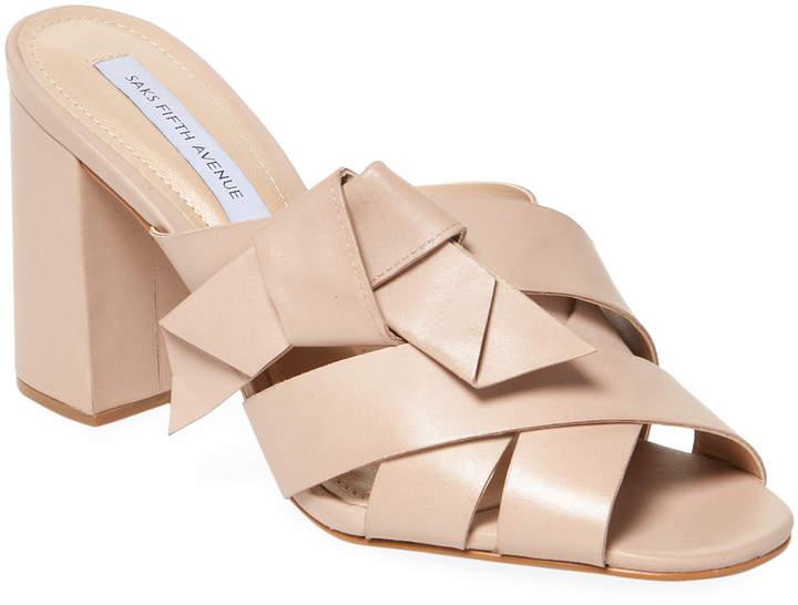 Saks Fifth Avenue Women's Knotted Block Heel Mule