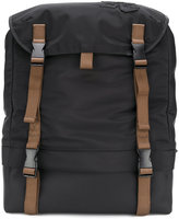 Emporio Armani buckled backpack
