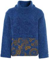 High Virgin Wool Klimt Flock Print Sweater