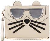 Charlotte Russe Faux Leather Cat Face Clutch