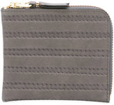 Comme des Garcons embossed stitch wallet - unisex - Leather - One Size