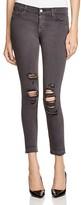 J Brand Low Rise Skinny Crop Jeans in Demented Grey