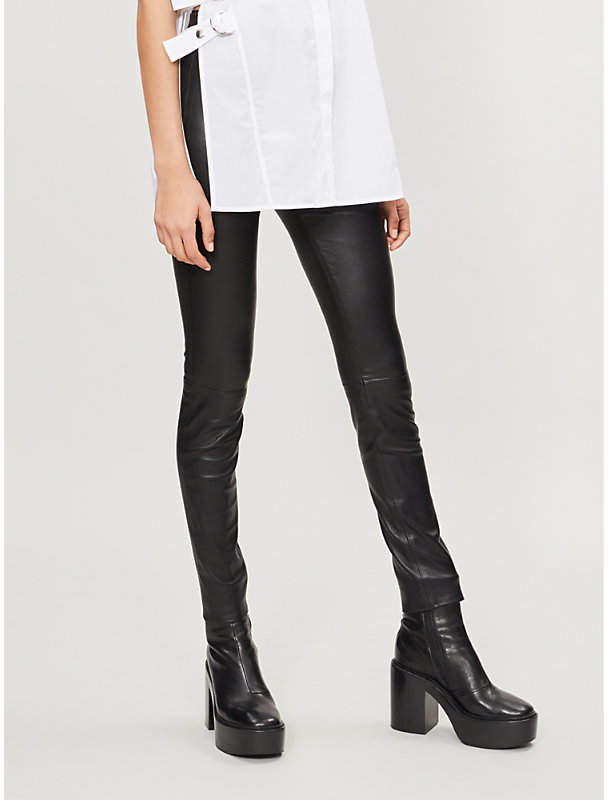 Helmut Lang Skinny stretch-leather leggings