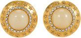 One Kings Lane Vintage Oversize Chanel Star Clip Back Earrings