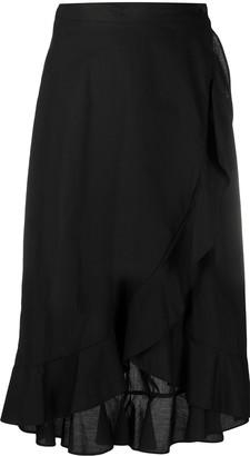 Pinko Ruffled Wrap Skirt