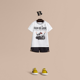 Burberry Rain or Shine Motif Cotton T-shirt