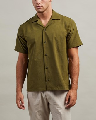 Saturdays NYC Canty Seersucker SS Shirt