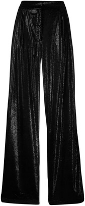 Pinko shiny wide leg trousers