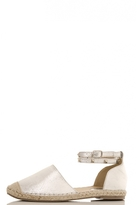 Quiz Silver Metallic Studded Espadrille Pumps
