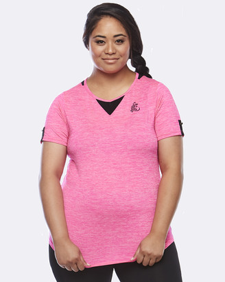 Curvy Chic Sports - Women's Pink Short Sleeve T-Shirts - Zest Short Sleeve Top - Size One Size, 14 at The Iconic