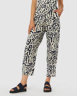gorman Ripple Effect Linen Pants