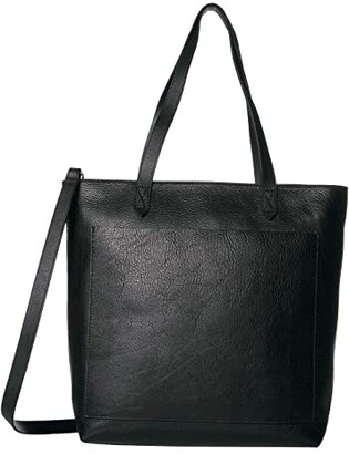 Madewell The Medium Transport Tote w/ Inset Zipper (True Black) Handbags