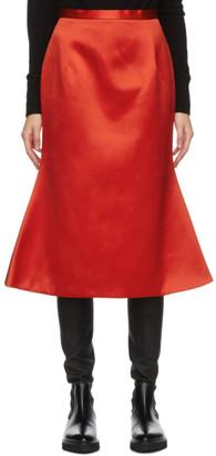 Christopher Kane Red Satin Bell Skirt