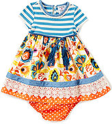 Rare Editions Baby Girls 3-24 Months Mixed Print Dress