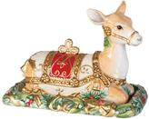 Fitz and Floyd Yuletide Holiday Reindeer Covered Butter Dish