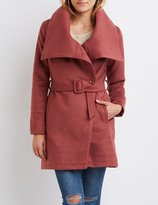 Charlotte Russe Asymmetrical Wool-Blend Trench Coat