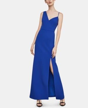BCBGMAXAZRIA Asymmetrical-Neck Gown