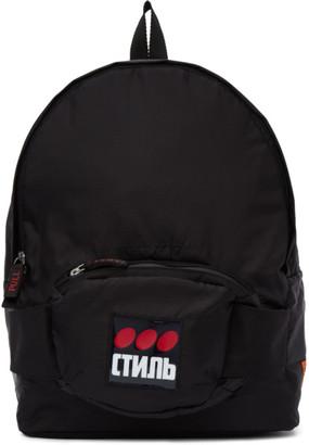 Heron Preston Black Fanny Pack Backpack