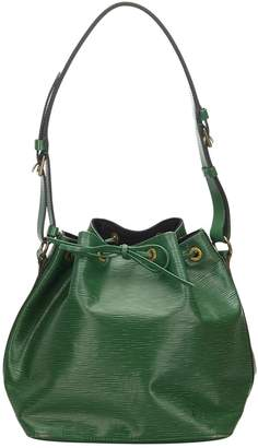 Louis Vuitton Noe Green Leather Bags