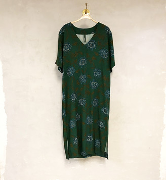 Liebling Malmo - Sparv Green Floral Viscose Dress - XS - Green