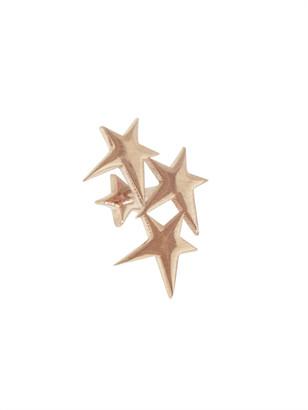 Struck Triple Star Single Stud Earring - Rose Gold
